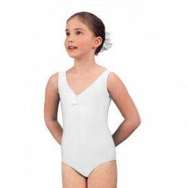 1st Position Ruched Front Leotard White