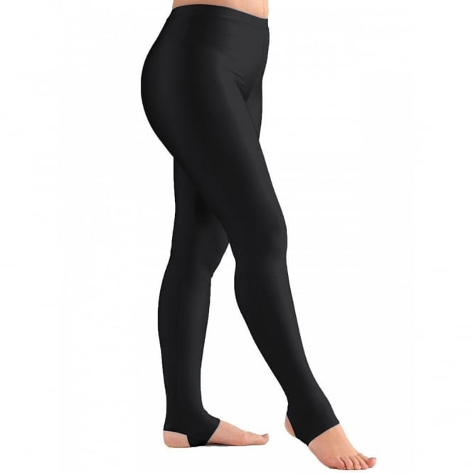 1ST POSITION Stirrup Tights Cotton Black