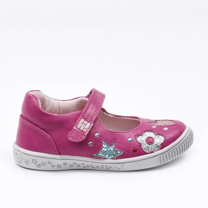 AGATHA RUIZ DE LA PRADA Mary Jane With Silver Heart Detail