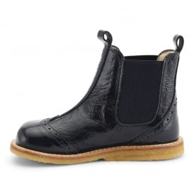 Angulus Chelsea Boot Navy Blue Patent