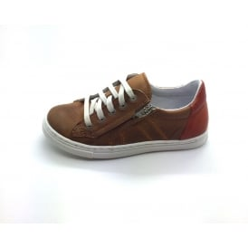 Ocki Laced Trainer With Side Zip