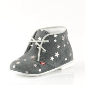 Laced Boots With Stars