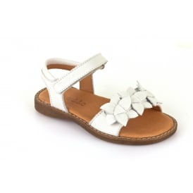 Adjustable Sandal With Flower Detail