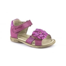 Froddo Closed Heel Open Toe Sandal Fuchsia Pink