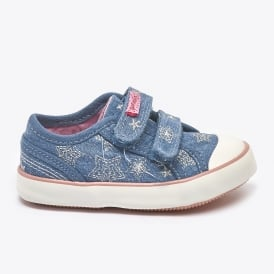 Canvas Velcro Shoe With Stars