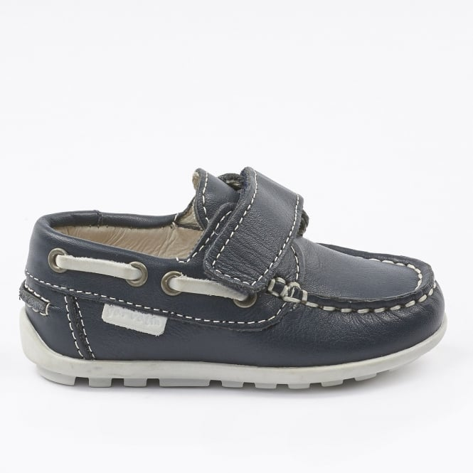 GARVALIN Deck Shoe Style Shoe Navy Blue
