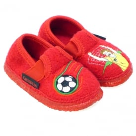 Slipper With Football Motif