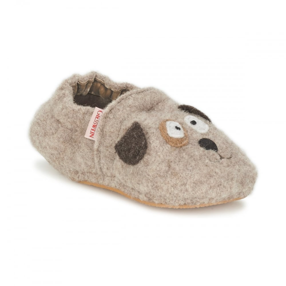 c55c1aab24e31c GIESSWEIN Slippers With Dog Motif - Girls from Childrens shoe company UK