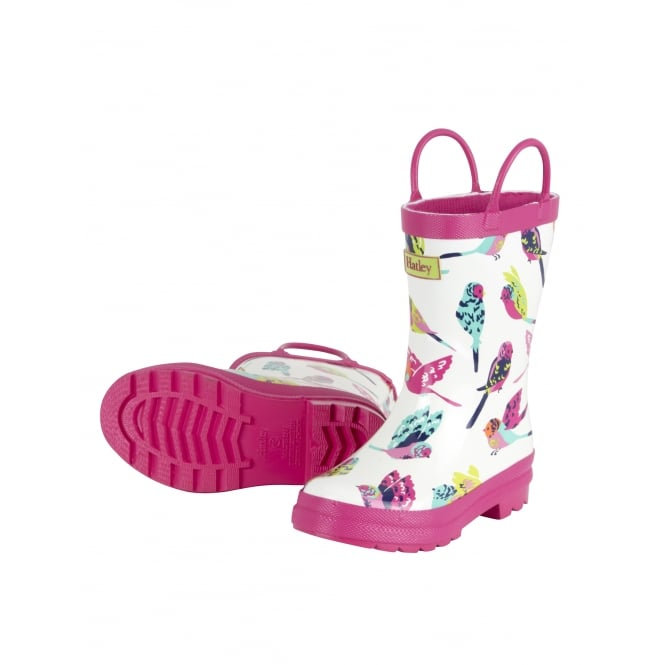 HATLEY Tropical Birds Rubber Boots
