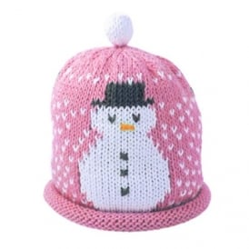 Knitted Cotton Hat Snowman