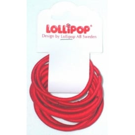 Hair Bobbles Red One Colour