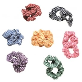 Scrunchie Navy Blue Gingham