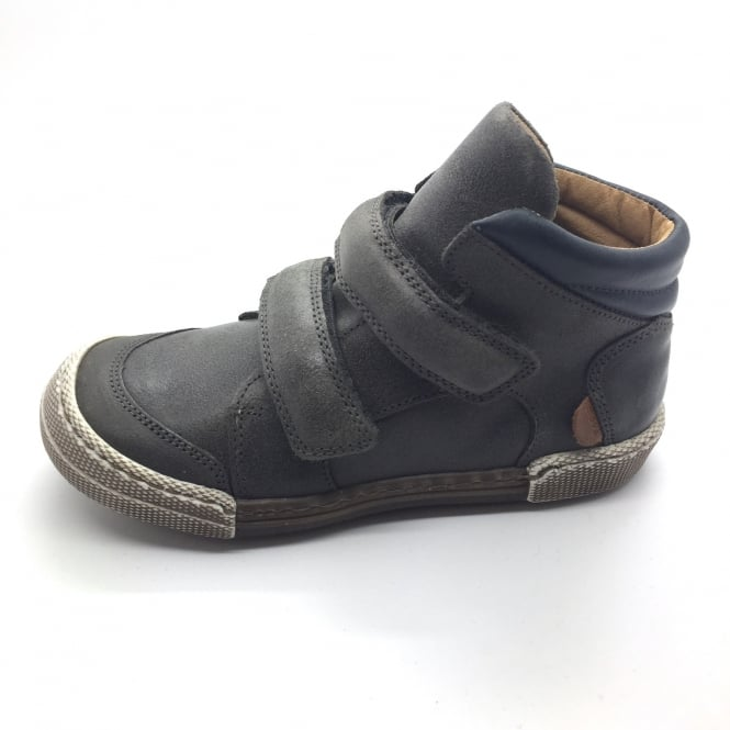 MELTON Anthracite Double Velcro Short Boot