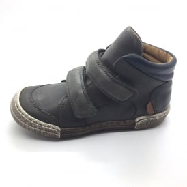 Anthracite Double Velcro Short Boot