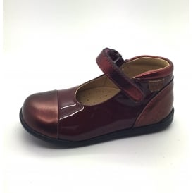 Mary Jane Patent With Contrast Toe