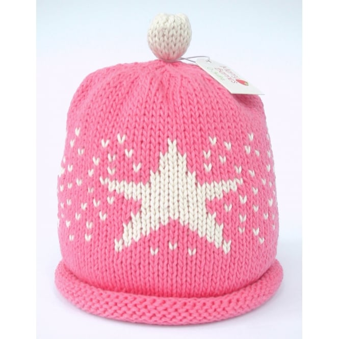 MERRY BERRIES Knitted Cotton Hat Candy Star