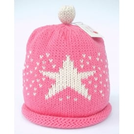 Knitted Cotton Hat Candy Star