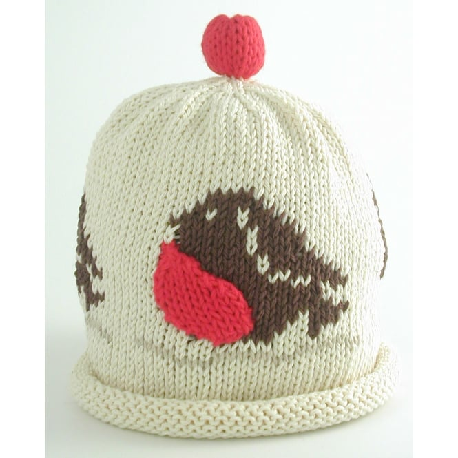MERRY BERRIES Knitted Cotton Hat Robin
