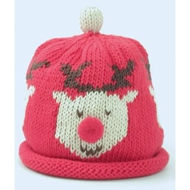 Knitted Cotton Hat Rudolph