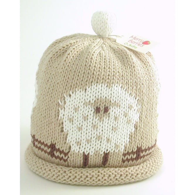 MERRY BERRIES Knitted Cotton Hat Sheep