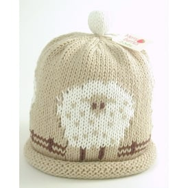 Knitted Cotton Hat Sheep
