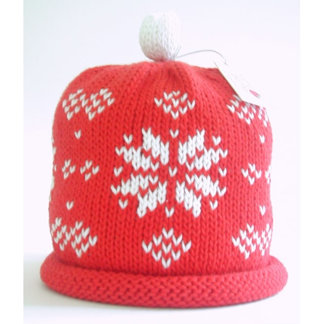 MERRY BERRIES Knitted Cotton Hat Snowflake
