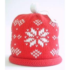 Knitted Cotton Hat Snowflake