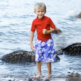 Mitty James Blue Hawaiian Board Shorts