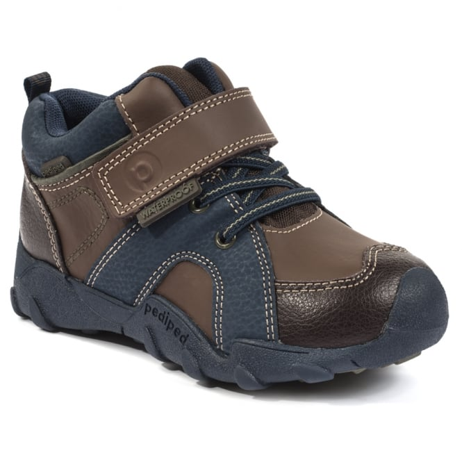 PEDIPED Justin Boot With Contrast Blue