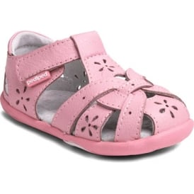 Pediped Toddler Closed Toe Sandal Baby Pink
