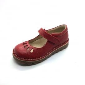 Petasil Childrens Girls Cacilda Mary Jane Leather Shoes Yellow