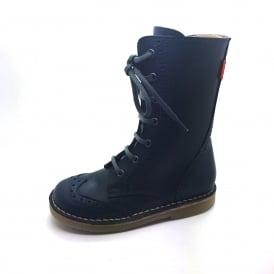 Petasil Front Laced Boot Blue
