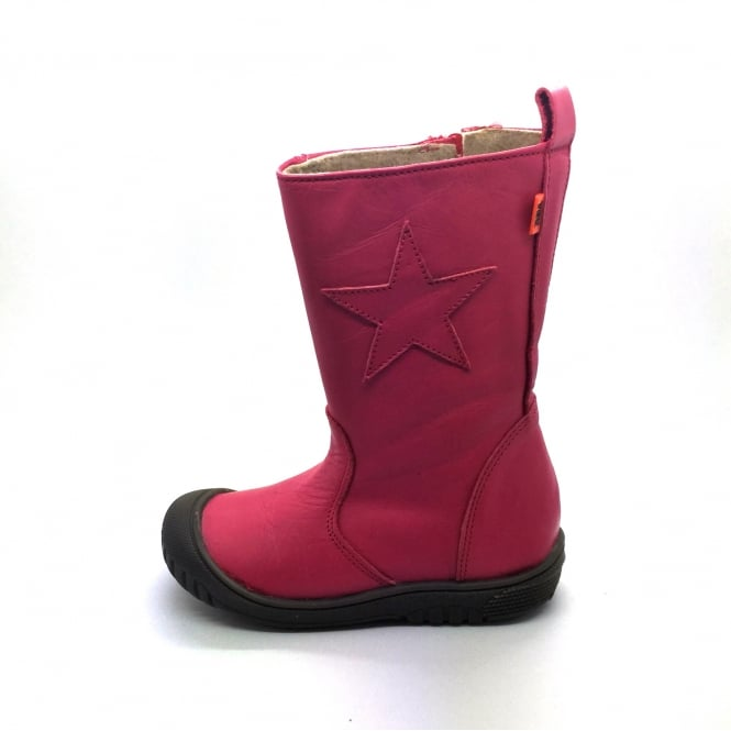 PETASIL Rubber Toe Boot With Star Detail Fuchsia Pink