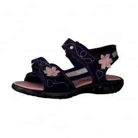 Azany Open Toe Sandal Navy Blue
