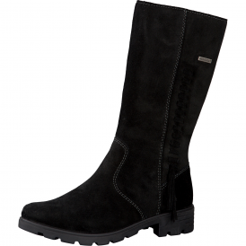 Ricosta Warm Lined Zipped Tex Boot Black