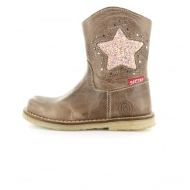 Boot With Sequin Star