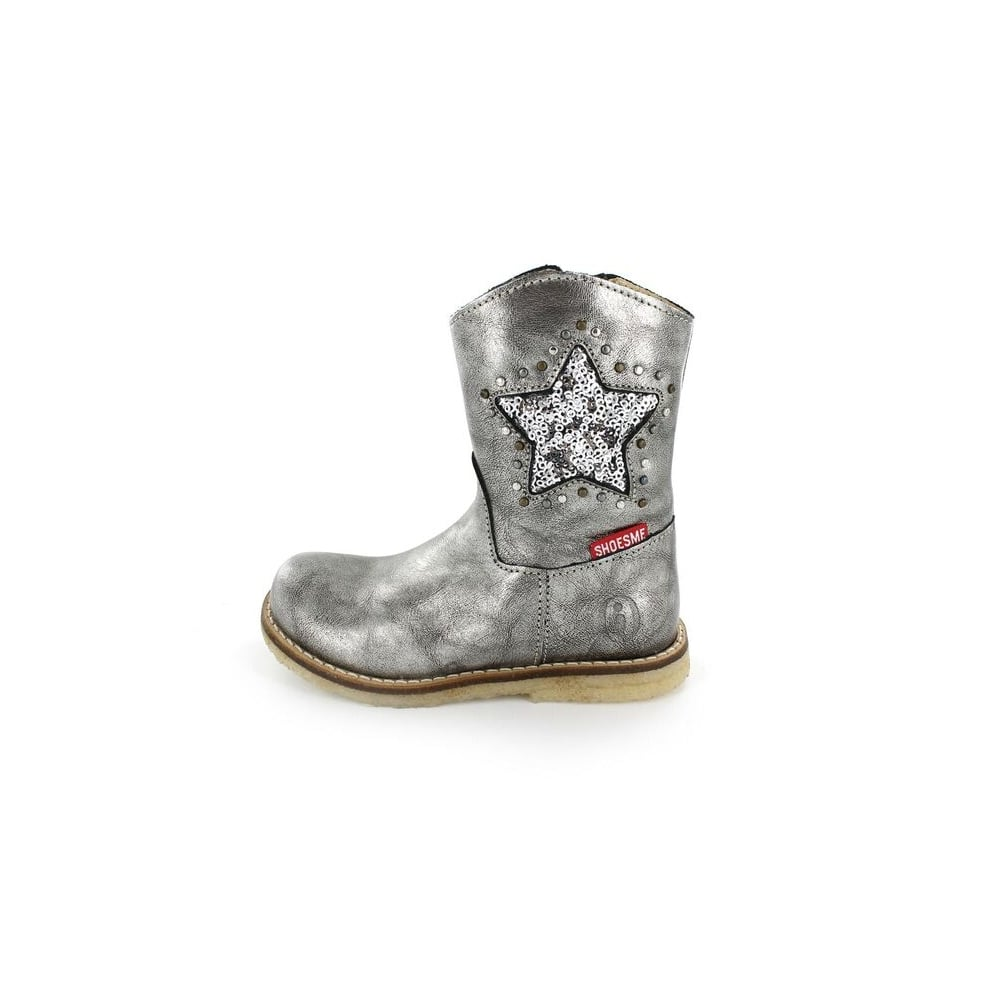 SHOESME Boot With Silver Sequin Star