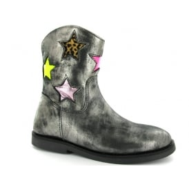 Pewter long boot with Star detail